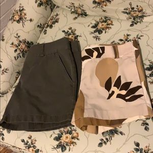 2 Pair Size 2 J. Crew City Fit Shorts